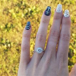 Jana N verified customer review of 1.25 ctw Art Deco Halo Ring