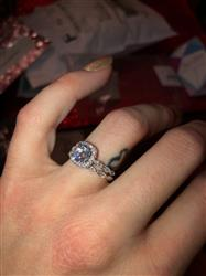 Gabrielle A. verified customer review of 1.25 ctw Art Deco Halo Ring
