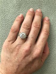 Danielle F. verified customer review of 2.25 ctw Art Deco Halo Ring