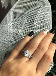 Laura C. verified customer review of 1.5 ctw Pear Halo Ring