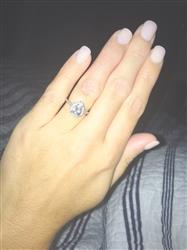 Sarah A. verified customer review of 1.5 ctw Pear Halo Ring