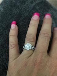 Paul s. verified customer review of 1.5 ctw Pear Halo Ring