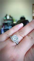 Devyn  verified customer review of 2.25 ctw Square Halo Ring