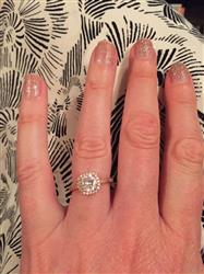 Sarah O. verified customer review of 1.25 ctw Art Deco Halo Ring - Rose GP