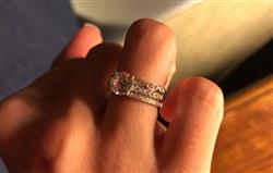 C verified customer review of Art Deco Half Eternity Band Set