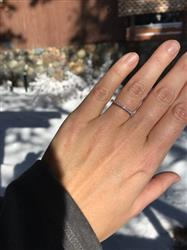 Isabelle Berges verified customer review of Half Eternity Band