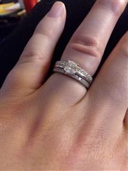 Camella B. verified customer review of Half Eternity Band