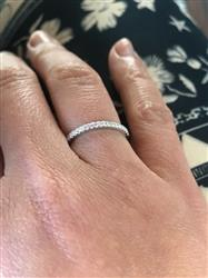 Frannie K. verified customer review of Half Eternity Band