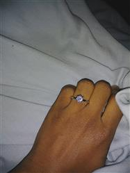 Allisha Carter verified customer review of 1.5 ct 6 Prong Solitaire Ring - 40% off Final Sale