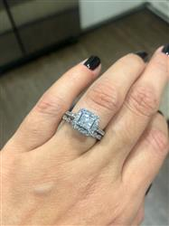 Laura C. verified customer review of Art Deco Marquise Eternity Band