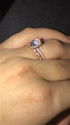 Nathalie verified customer review of 1.25 ctw Oval Accented Ring - Rose GP
