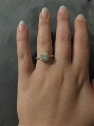 Michelle H. verified customer review of 1.25 ctw Square Halo Ring - Rose GP