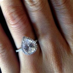 Kendra Freeman verified customer review of 2.5 ctw Pear Halo Ring