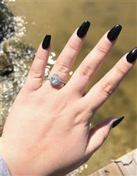 Taylor J verified customer review of 2.5 ctw Pear Halo Ring