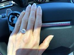 Fionna M verified customer review of 4 ct Classic Solitaire Ring - Final Sale
