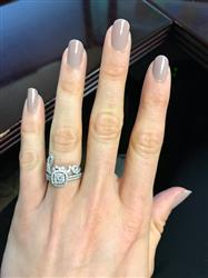 Kayla Z verified customer review of .2 ctw Love Cursive Ring