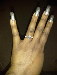KelliLeigh Morgan verified customer review of 1.5 ctw Princess Channel Ring - Final Sale