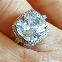 5 ctw Cushion Cut Halo Glam Ring