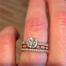 Amy C verified customer review of 1 ctw Princess Halo Engagement Ring