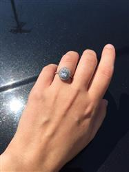Amy McGann verified customer review of 1.5 ctw Oval Double Halo Ring