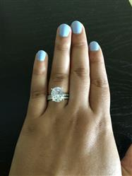 Ciarra Cruickshank verified customer review of 5.25 ctw Oval Accented Solitaire Set - Final Sale