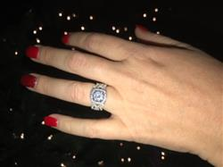 Janelle H. verified customer review of 2.25 ctw Twisted Round Halo 3 Band Set