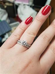 Stephanie C. verified customer review of 1.25 ctw Wide Art Deco Solitaire Ring