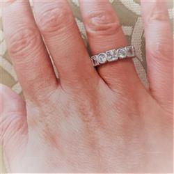 Francesca N verified customer review of 4 ctw Art Deco Princess Eternity Band