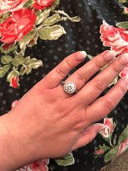 Amanda W. verified customer review of 4.25 ctw Art Deco Halo Ring - Final Sale