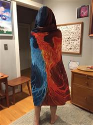 Peter S. verified customer review of Fire & Ice Phoenix Hooded Blanket