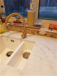 Kim H. verified customer review of Cascata Satin Bronze kitchen mixer tap, with Eco handle