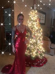 Erin G. verified customer review of Cateleya Red Sequin Gown