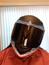 Matthew S. verified customer review of 988 Moto-1 Full Face Red and Blue America Helmet