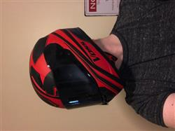 988 Moto-1 Full Face - Matte Black/Red Synchro