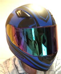 Niles B. verified customer review of 988 Moto-1 Full Face - Matte Blue Synchro