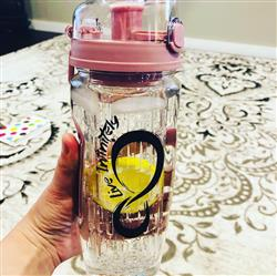 Sviatlana Lapshyna  verified customer review of 32oz Fruit Infuser Water Bottles With Time Marking & Insulation Sleeve