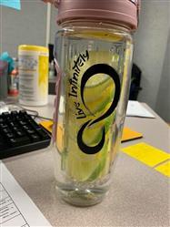 Sabrina M. verified customer review of 32 Oz Flip Top Fruit Infuser Water Bottle