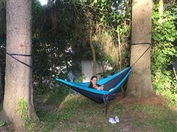 Matthew B. verified customer review of Double Lightweight Camping Hammock & Tree Straps