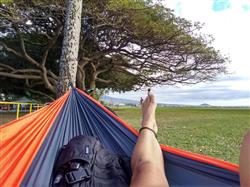 Katie L. verified customer review of Double Lightweight Camping Hammock & Tree Straps