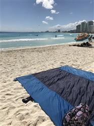 Lettie P. verified customer review of Live Infinitely 9' x 10' Sand Free Nylon Beach Blanket