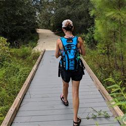 Kim M. verified customer review of Hydration Backpack & 2.0L Water Bladder