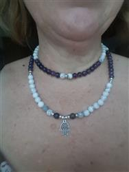 Wendy N. verified customer review of Amethyst & Howlite Hamsa Mala