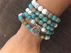 Katrina L. verified customer review of Howlite & Sea Sediment Jasper Mala Bracelet Necklace