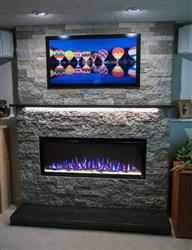 """James K. verified customer review of Sideline 50 Elite 50"""" Recessed Electric Fireplace"""