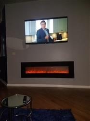 """kaydeen p. verified customer review of OnyxXL 80005 Refurbished 72"""" Wall Mounted Electric Fireplace"""