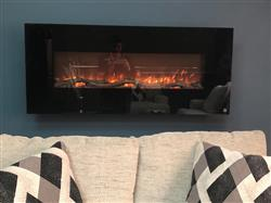Khalid A. verified customer review of Onyx 80001 50 Wall Mounted Electric Fireplace