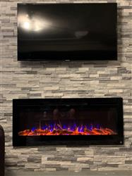 """Andrew C. verified customer review of Sideline 50 80004 50"""" Recessed Electric Fireplace"""