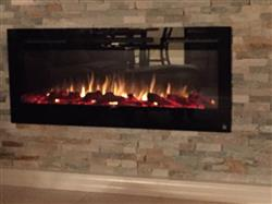 "Charlene R. verified customer review of Sideline 50 80004 50"" Recessed Electric Fireplace"