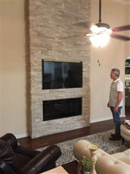 """Patty J. verified customer review of Sideline 50 80004 50"""" Recessed Electric Fireplace"""
