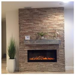 """Peggy G. verified customer review of Sideline 50 80004 50"""" Recessed Electric Fireplace"""